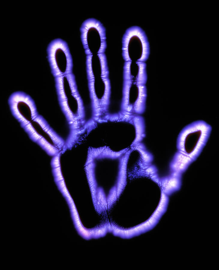 1 kirlian photograph of a human hand garion hutchings