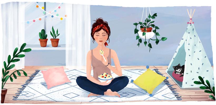 Meditation manger pleine consience 820x400